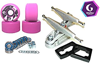 Glutier Set Surfskate Trucks T12 70mm 86a Pink...