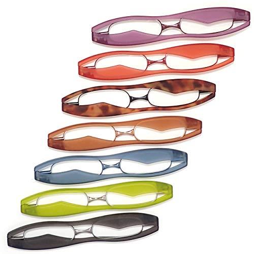 新型 ポッドリーダースマート (デミブラウン, 度数+3.00) 超薄型・軽量 携帯用 折りたたみ老眼鏡 東レ トレシー クリーニングクロス セット