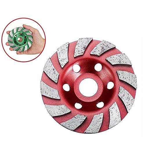 Jp Disco De La Rueda De Molienda De Diamante De 4 Pulgadas-100mm, Taza De Molienda De Forma De Tazón, Cerámica De Granito De Piedra Cerámica De Cerámica Accesorios De Herramientas 1pcs ( Color : Red )
