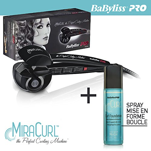 Babyliss pro - Fer à boucler Miracurl BAB2665E the Perfect Curl Machine avec un spray curl foundation 177 ml - gamme professionnel