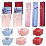 15 cajas de regalo cuadradas con tapas para aniversario, boda, cumpleaños, día de San Valentín, joyas, cajas de regalo para anillos, collares, pulseras, relojes