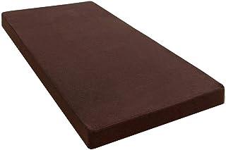 タンスのゲン マットレス シングル 厚さ10cm 「純」高反発 高密度30D 硬さ210N 洗える カバー付き 高反発マットレス パイル ブラウン 13810016 02 (61221)
