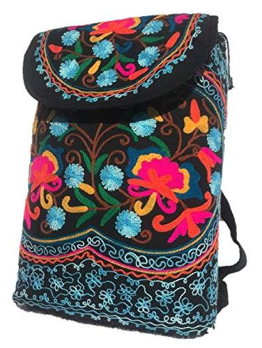 Indie Boho Hippie bestickt Rucksack Tasche Hippie Schulter Festival Rucksack Stickerei Ethno-Stil Umhängetasche