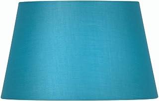 Oaks Lighting - Pantalla cilíndrica para lámpara (algodón, 20 cm), color azul