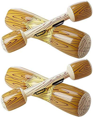 Queta Canoa Inflable Deportes Acuáticos Juguetes Flotador Barco Juego Swim Log Stick para Piscinas 4 Unids/Set