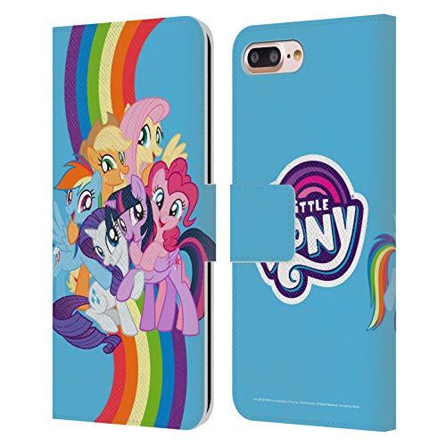 Head Case Designs Licenza Ufficiale My Little Pony Gruppo Arte Personaggi Cover in Pelle a Portafoglio Compatibile con Apple iPhone 7 Plus/iPhone 8 Plus