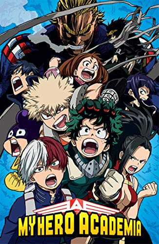 Theissen My Hero Academia Poster, Multi-Colour, Matte Poster Frameless Gift 11 x 17 inch(28cm x 43cm)*IT-00234