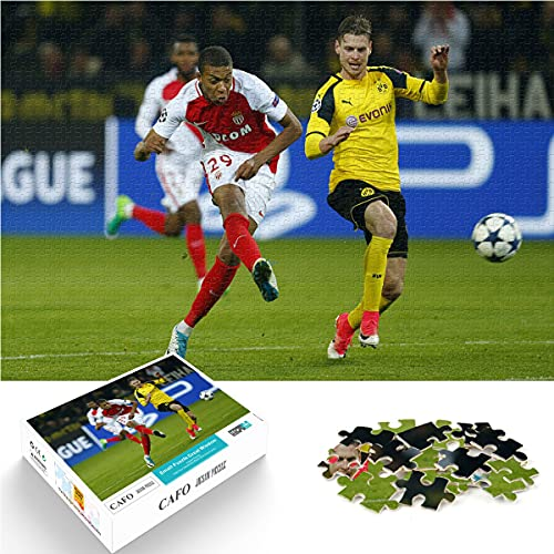 YLAXX Puzzle per Adolescenti 1000 Pezzi Calcio Football-Dortmund vs AS Monaco Puzzle del Personaggio Preferito Puzzle HD Fai-da-Te Regalo Giocattolo Fai da Te 75x50cm
