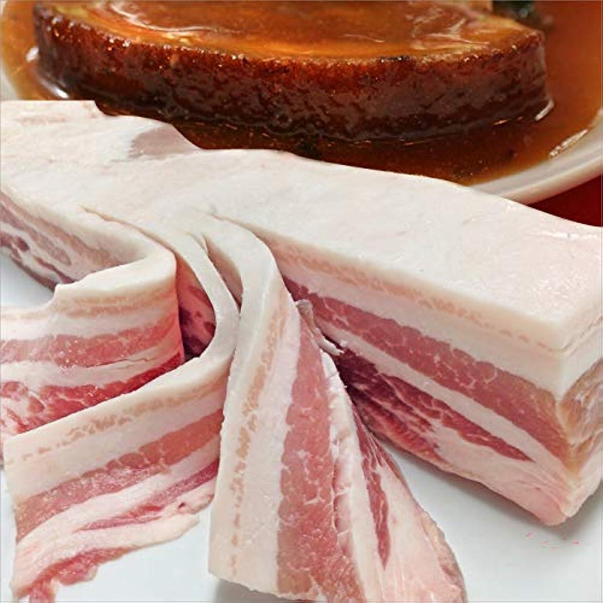 キャリア闇ポップEU産 豚バラ ブロック肉 500g 《*冷凍便》