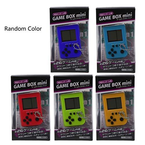 Qintaiourty Tetris Mini Ordinateur de poche Enfant Jeux Vidéo Console Capsule Jouet Intégré à 26 Jeux Utiliser pour Porte-clés Porte-clés Couleur Aléatoire
