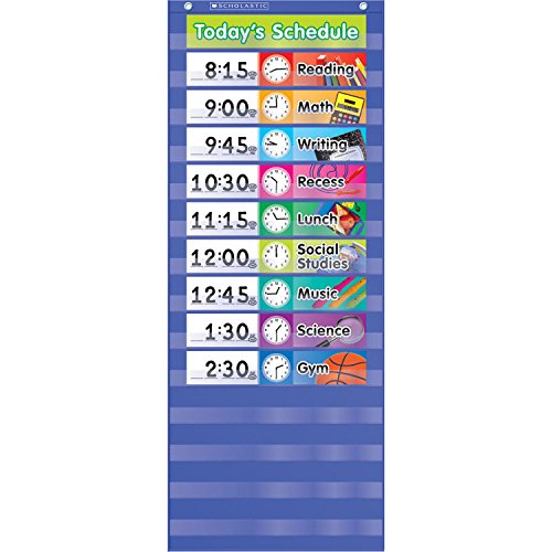 Daily Schedule Pocket Chart, Blue