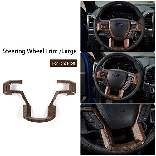 Voodonala Wood Grain Steering Wheel Decorative Trim Car Steering Wheel Cover for 2015 2016 2017 Ford F150 F250 F350 Super Duty