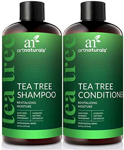 ArtNaturals Tea Tree Shampoo and Conditioner Set - (2 x 16 Fl Oz / 473ml) – Sulfate Free –...