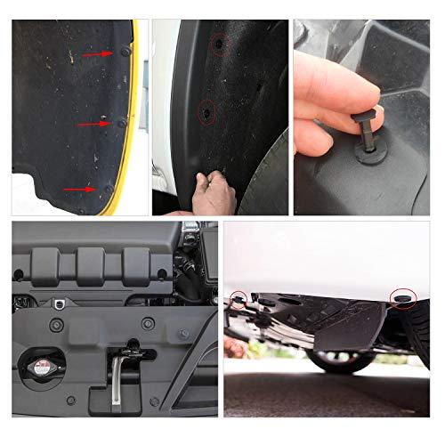 GOOACC 240PCS Bumper Retainer Clips Car Plastic Ri   vets Fasteners Push Retainer Kit Most Popular Sizes Auto Push Pin Rivets Set -Door Trim Panel Fender Clips for GM Ford Toyota Honda Chrysler