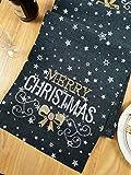 Lifestyle Tischläufer Weihnachten | Hochwertige Tischdecke, dunkelgrau in schicker Farbkombination 40x140 cm | Weihnachtsdeko Tisch Sterne