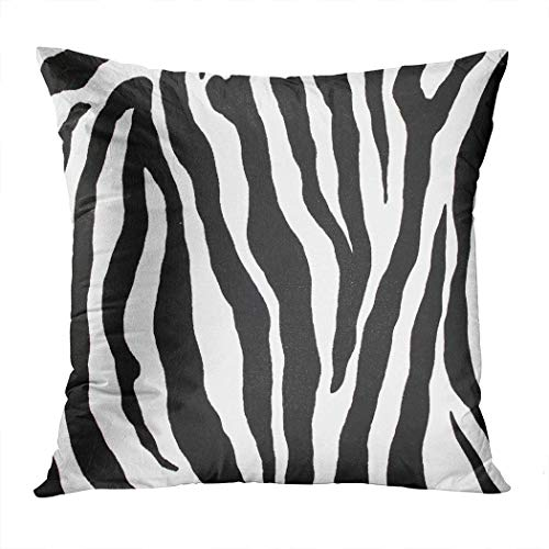 Hangdachang Two Sides Print Zebra Cushion Case Office Pillowcase Home Decor Pillow Cover Bedroom Decorative Cushion Case For Living Sofas Square Cushion Case 18x18 Inch