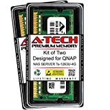 A-Tech 16GB (2 x 8GB) RAM for QNAP NAS Server TS-1263U-4G | DDR3 1600MHz SODIMM PC3-12800 204-Pin Non-ECC Memory Upgrade Kit