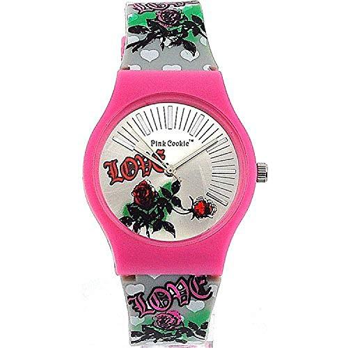 Reloj Pink Cookie para Niñas con Correa PU Plateada PLC-0023