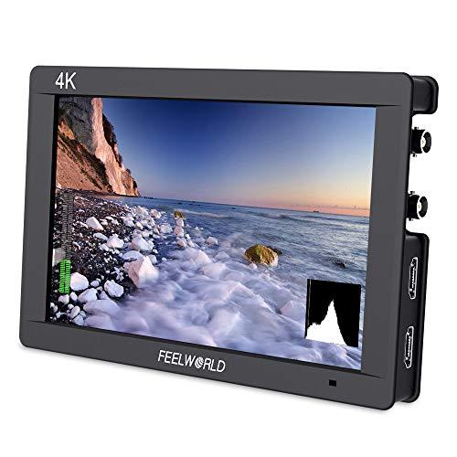 FEELWORLD FW703 7 Pulgadas IPS 3G SDI 4K HDMI DSLR Monitor Full HD 1920 x 1200 en cámara Monitor de Campo con histograma para estabilizador de cámaras Rig