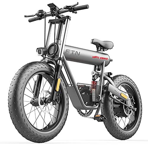 F7 20 pulgadas gordo Neumático Bicicleta Electrica 400W montaña Bicicleta eléctrica 48V / 15Ah Li-ion Batería playa Fuera del camino Electrónico Bicicleta por Adultos De los hombres De las mujeres