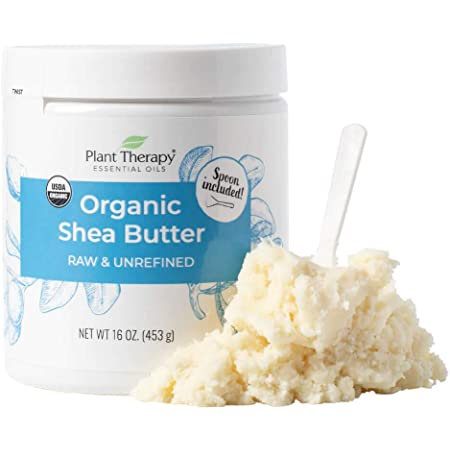 Plant Therapy Organic African Shea Butter Raw, Unrefined USDA Certified 16 oz Jar For Body, Face & Hair 100% Pure, Natural Moisturizer For Dry, Cracked Skin, Best for DIY Beauty Products Like Lotion, Cream, Lip Balm & Soap