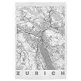 artboxONE Poster 30x20 cm Städte Zürich, Schweiz