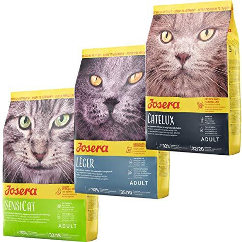 Josera Die Gourmetvariation für die Katze: je 2 kg SensiCat, Léger & Catelux