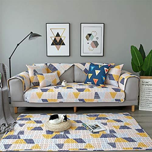 ADGAI Funda de sofá seccional Protector de sofá en Forma de L Fundas de Funda de sofá de Esquina de algodón Beige Toalla de sofá Antideslizante Moderna, Toalla de sofá de Varios tamaños,70 * 70cm