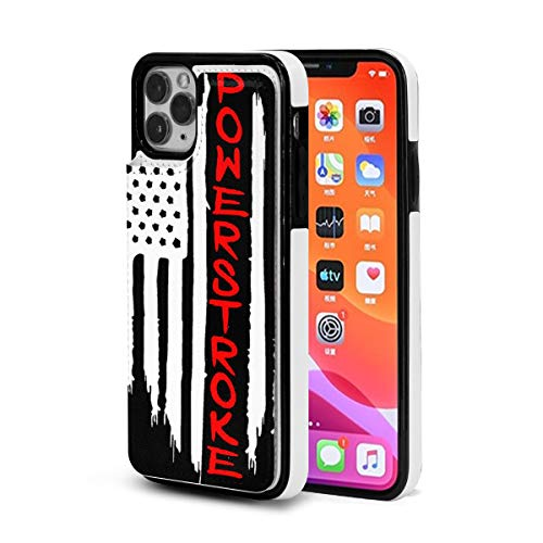 American Flag Powerstroke iPhone 11 Pro Max Case 3D Fashion Creative Cute Cover Double Magnetic Clasp and Durable Shockproof Cover