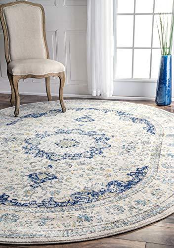 nuLOOM Paisley Verona Vintage Persian Area Rug, 3' x 5', Blue