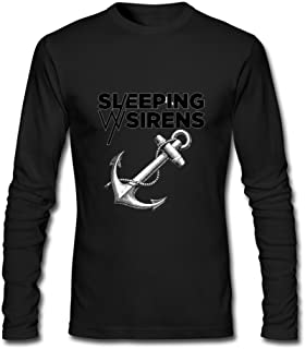SUNRAIN Men's Custom Sleeping with Sirens Band Logo Long Sleeve T Shirt