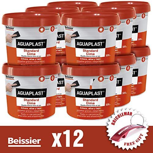 Aguaplast Standard Cima Caja Edición Bricolemar de 12 Unidades de 500gr + Llavero Rojo Bricolemar de Regalo!