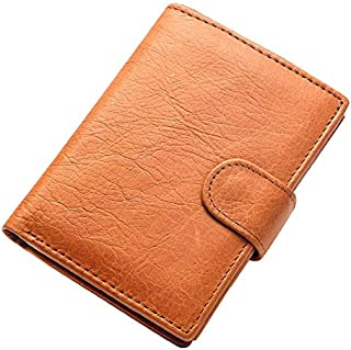 Mens Leather Bag Men's Short Wallet Men Genuine Leather Clutch Wallets Purses Real Leather Multi-Card Bit Retro Card Holder Bag (Color : Yellow)