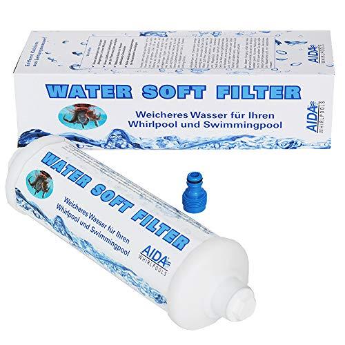 Reduziert Kalk: Water Soft Filter für weicheres Wasser in Whirlpool & Schwimmbad (reicht für ca. 10.000 Liter)