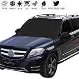 Windshield Snow Cover,Extra Large Magnetic Windscreen Ice Cover,Sun Shade Protector with Rearview Mirror Covers & Hook Design Fits Most Cars,Trucks,Vans and SUVs