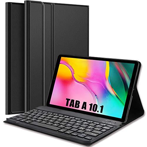 Anmete Custodia con Tastiera per Samsung Galaxy Tab A 10.1 2019 Tastiera Italiana Cover Tastiera Bluetooth Wireless per Tab A 10.1  T510 T515 Custodia Slim con Tastiera Rimovibile per Tablet 10.1