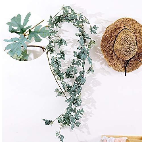 Artificial Garland,Marigold Garland for Decoration,Artificial Greenery Garland,Daisy Leaf Artificial Flower Vine Interior Background Wall Window Decoration,Length: 1.5m Garland Artificial Flowers