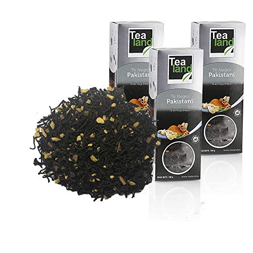 Tealand | Te pakistani Chai, Hojas Sueltas | Pack de te negro chai a granel | 3 x 100 gr