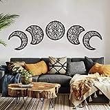 Moon Decoracion Pared, 5 Piezas hogar Decoracion Salon del Norte de Europa Moon Phase Nature Diseño, Pared Bohemia Dormitorio decoración de la Pared