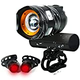 Best Cree Bike Lights - USB Rechargeable Bike Light, 1200 Lumens Bicycle Headlight Review