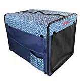 101mart Premium Soft-Sided Foldable Dog Crate for Home | Portable Travel Pet Kennel on The Go | Made from Durable Water-Resistant Canvas Fabric | Perfect for Indoor and Outdoor Use | Size Large