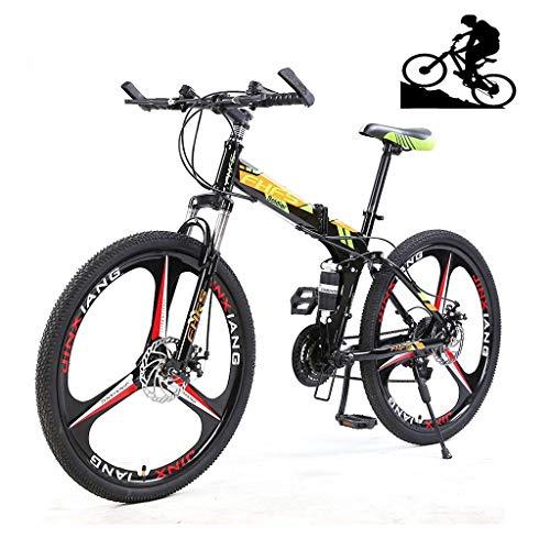Bicicleta de montaña para adultos, ruedas de 24 pulgadas, bicicleta de montaña Bicicleta de altura de altura de carbono Bicicletas, 21/24/27 SPEED BICICLEY SUSPENSIÓN COMPLETA MTB MTB GEANS DUAL DISCE