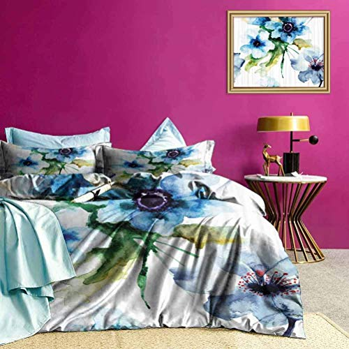 Nonun Bedding Cover Summer Flowers Growth All-Purpose Bedding Sets Hypoallergenic, Breathable