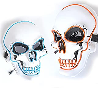 Máscara de Halloween con luz LED (paquete de 2)