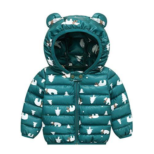 PROTAURI Baby Jacke Mantel Kinder Winterjacke Ohr mit Kapuze Jacke Warm Gepolstert Leicht 80cm Jungen Mädchen Outfits