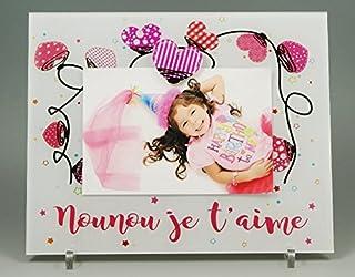 Cadre Photo Aimant pour Nounou – (Cadeau pour la fête des Nounous, Noël, Anniversaire, fin de contrat, fin d'année scolaire)