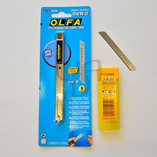 Olfa Professionele Cutter SVR-2 (45° graden) + 10 stuks afbreekmesdoos 45° mesjes NIEUW!