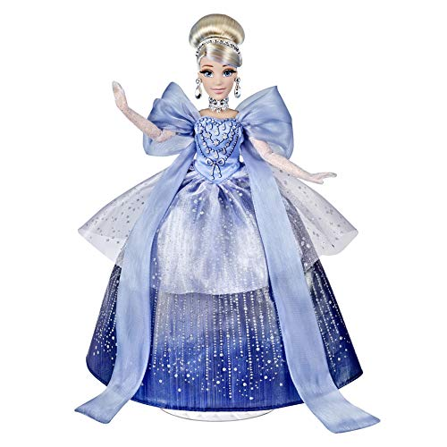 Disney Princess Style Series Holiday Style Cinderella, Christmas 2020 Fashion Collector Doll with Accessories, Toy for Girls 6 Years and Up