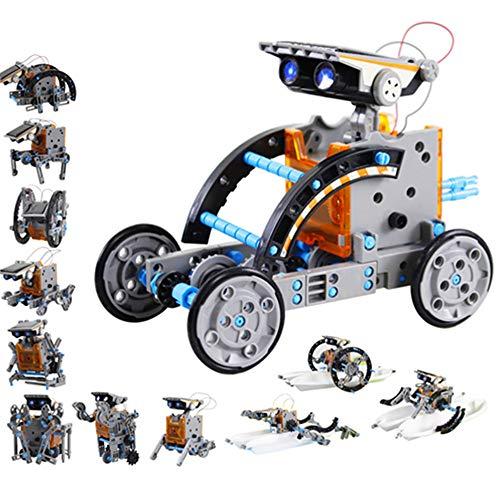 Innoo Tech 12 in 1 Solar Roboter Bausatz Set Kinder, STEM Spielzeug Konstruktion Bauset, Solar Angetrieben DIY konstruktionsspielzeug Robot Wissenschaft Kits für Kinder über 8 Jahren (Solar Roboter)
