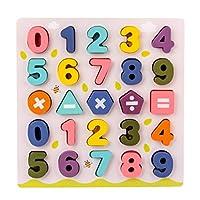 Hakka 1セット木製パズルアルファベット文字番号木製モンテッソーリ学習ボード教育玩具男の子女の子(番号)
